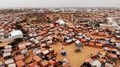 An aeriel view of Kahda IDP camp in Mogadishu