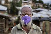 70 year-old Abu Salem* outside his tent, Rohingya refugee camp, Coxs Bazar, Bangladesh