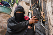 Taghreed, 22, a Yemeni mother living in an IDP Camp