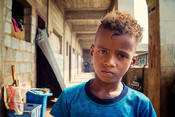 Ali*, 8, IDP camp in Yemen
