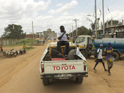 Loro Pascal delivers COVID awareness in different local languages across Juba for Action Against Hunger